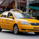 Yellow taxi-meter in Pattaya
