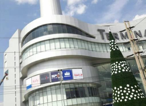 A Christmas tree at Terminal 21 Korat