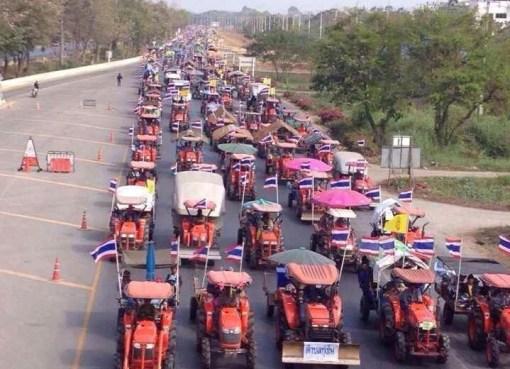 Thai farmers protest