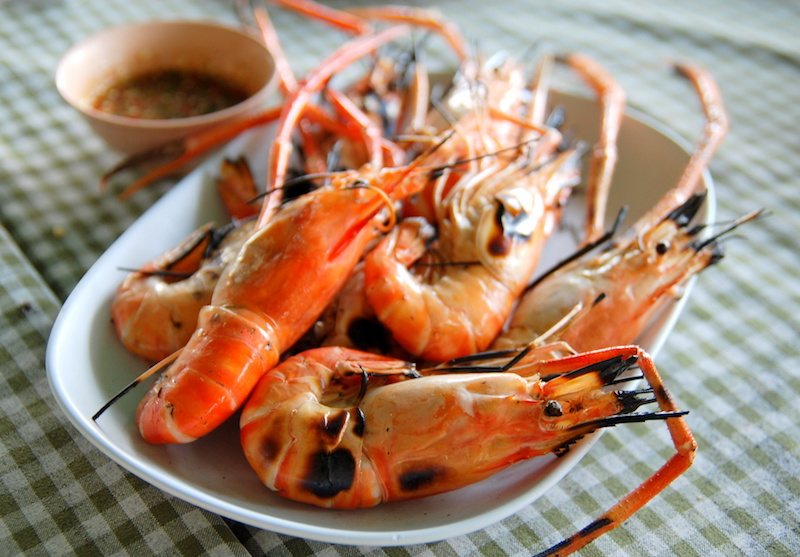 Kung yang, Thai grilled prawns