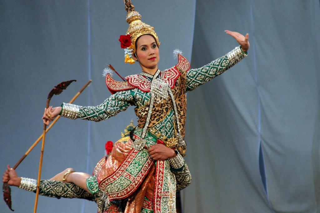 Thai Khon dancer during a performance in Hahoe Folk Village