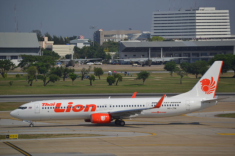 Thai Lion Air Boeing 737 aircraft