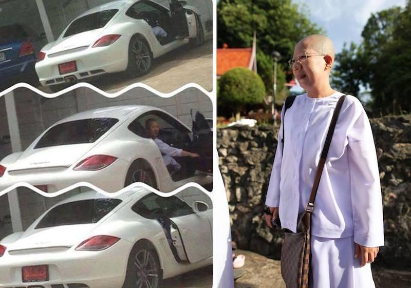 Thai Nun driving a Porsche