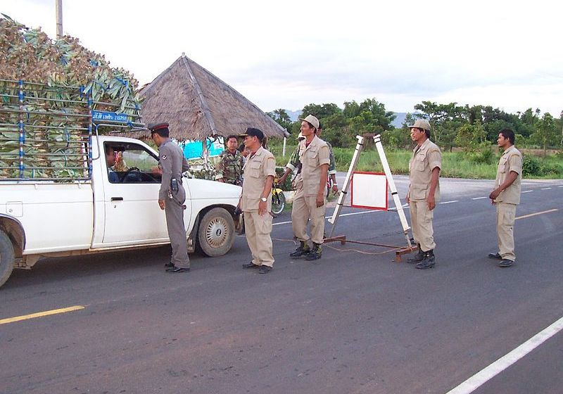 Thai police checkpoint