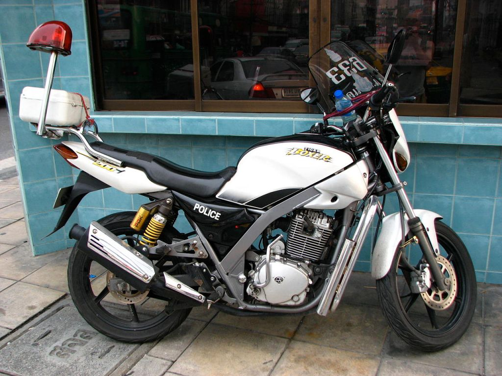 Cheap used Tiger motorcycles put on sale by roadside