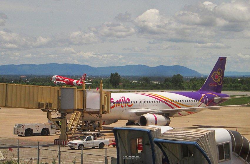 Thai Smile Airways Airbus A320-232 at Khon Kaen Airport