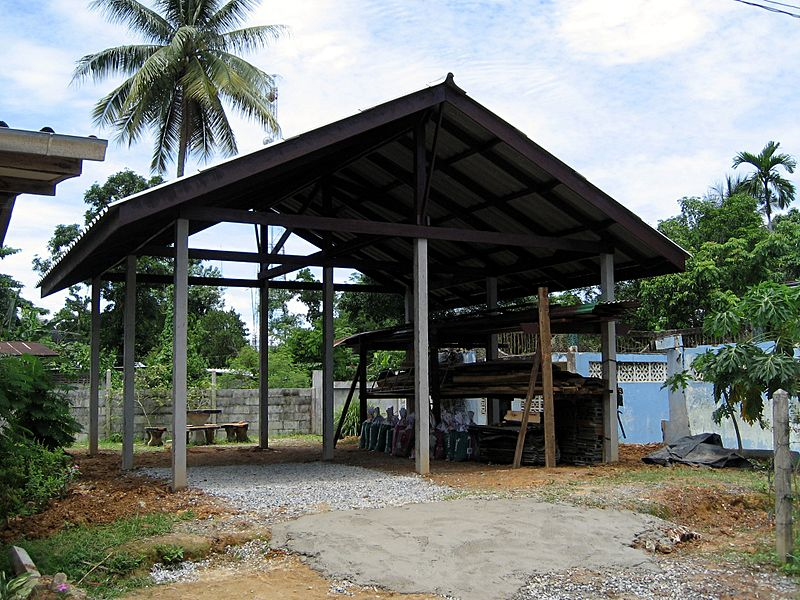Thai house under construction