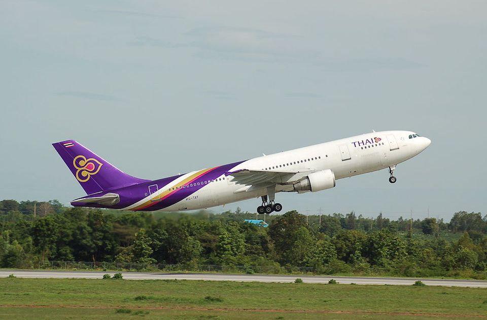 Thai Airways Airbus A300 departing Khon Kaen Airport