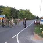Thai Police checkpoint in Huaikhot,, Uthai Thani