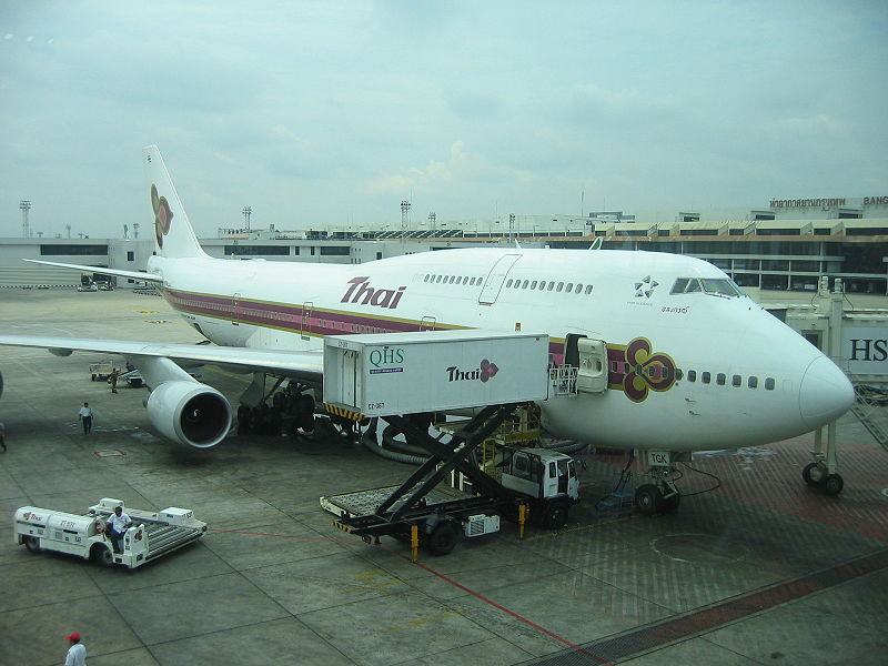 Thai Airways International Boeing 747 at Don Mueang Airport