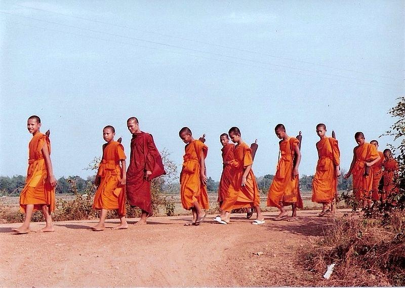Thai monks on pilgrimage