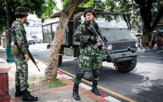 Thai military at Chang Phueak Gate in Chiang Mai