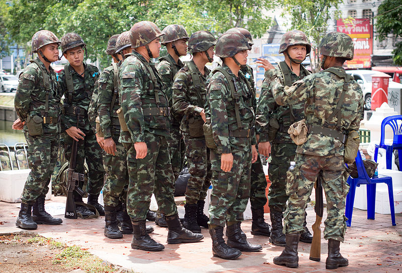 Thai military in Chiang Mai