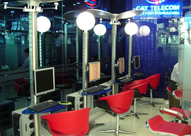 CAT Telecom Internet café at Suvarnabhumi International Airport in Bangkok
