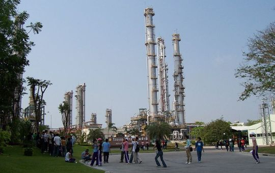 Natural gas separation plant in Map Tha Phut Industrial Estate