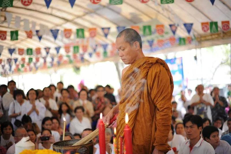 Along with Suthep, the monk Buddha Issara was one of the leaders of Bangkok Shutdown protests