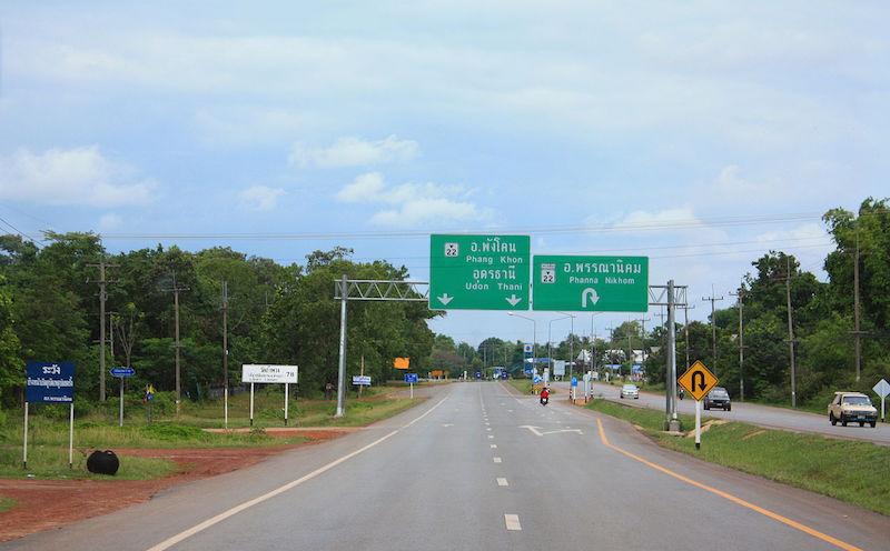 Highway 22 at Amphoe Phanna Nikhom, Sakhon Nakhon