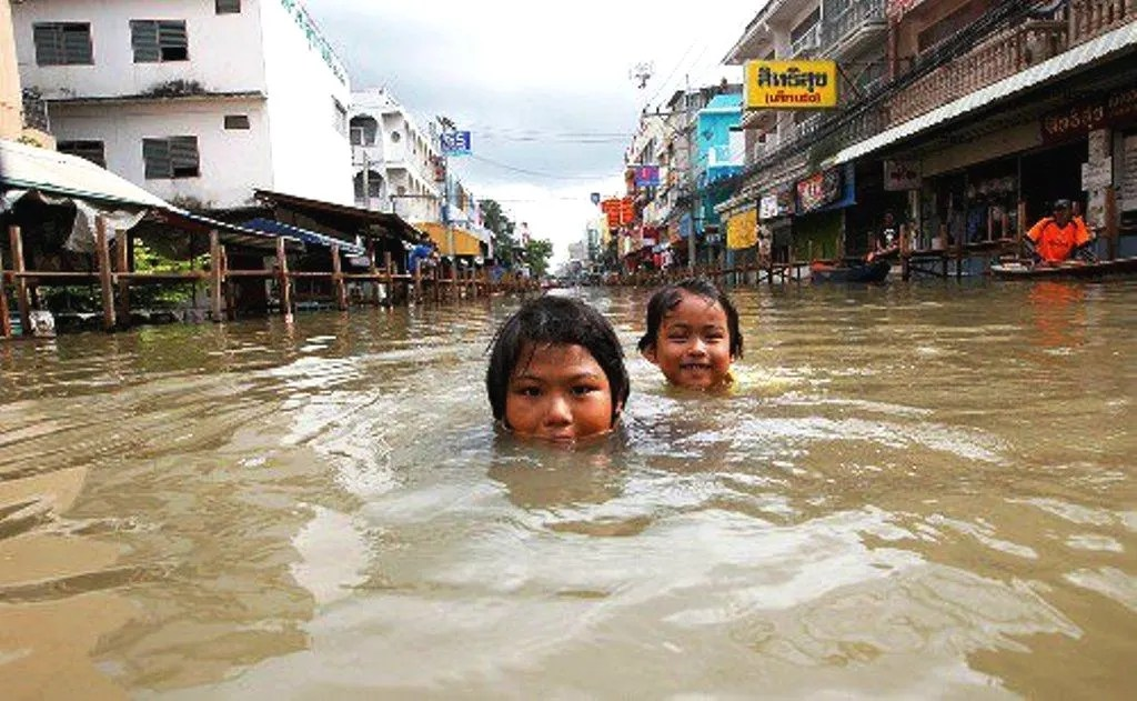 Flooded street in Bangkok