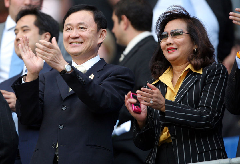 Thaksin Shinawatra and his wife