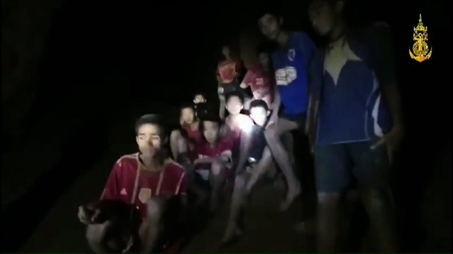 12 football team boys and coach found safe at Tham Luang cave in Chiang Rai