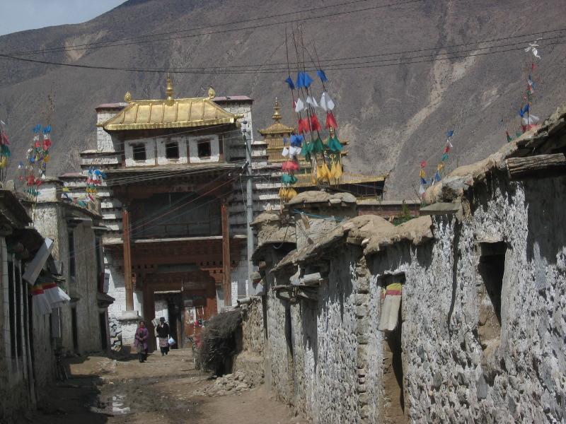 Village life in Tibet, just outside Samye