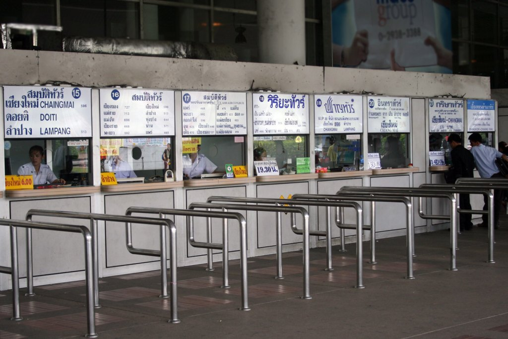 Ticket Offices at Mo Chit 2 Bus Station in Bangkok
