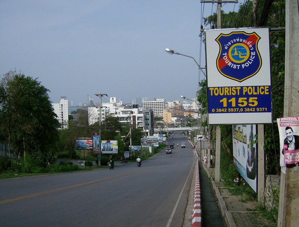 Thai Tourist Police Sign in Pattaya