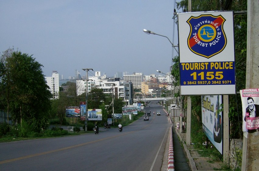Thai Tourist Police Sign in Pattaya