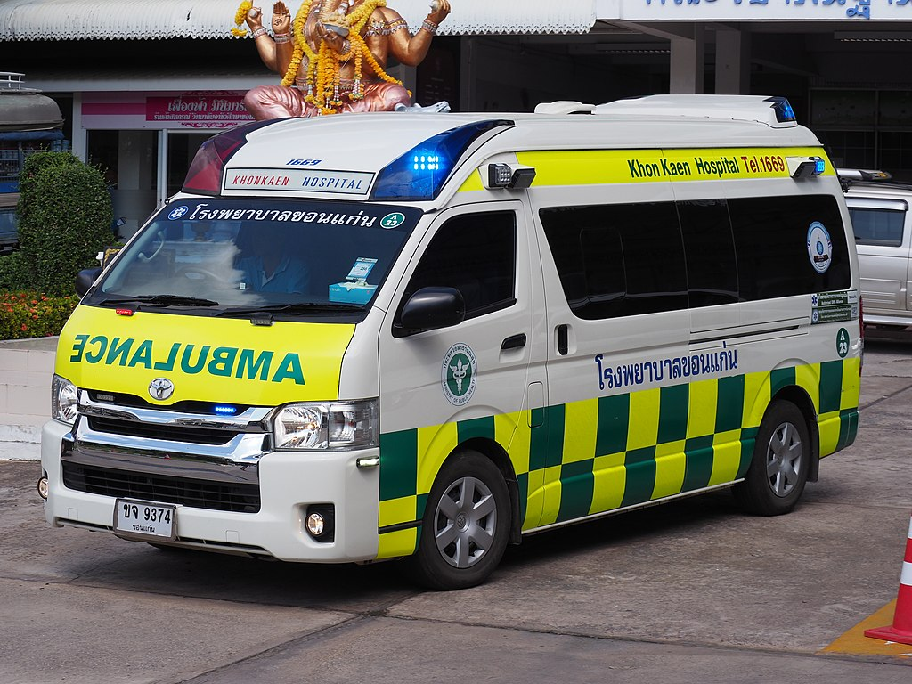 Toyota Commuter 3.0 ambulance at Khon Kaen Hospital