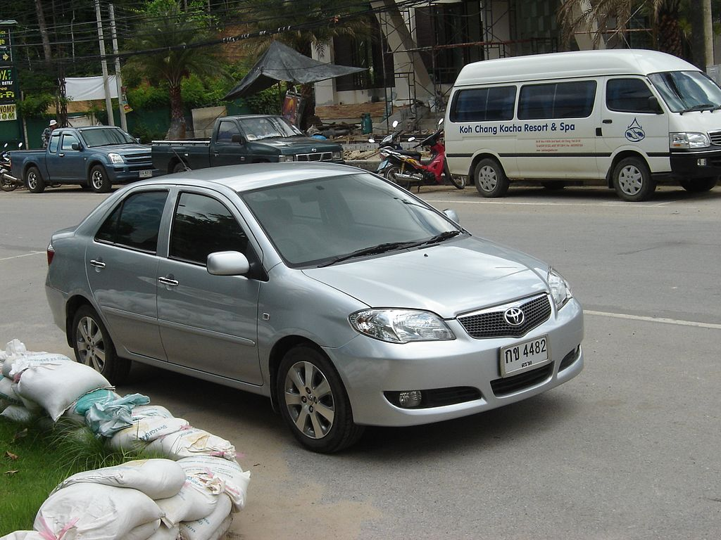 Toyota Vios and minivan
