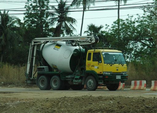 Cement mixer truck in Thailand
