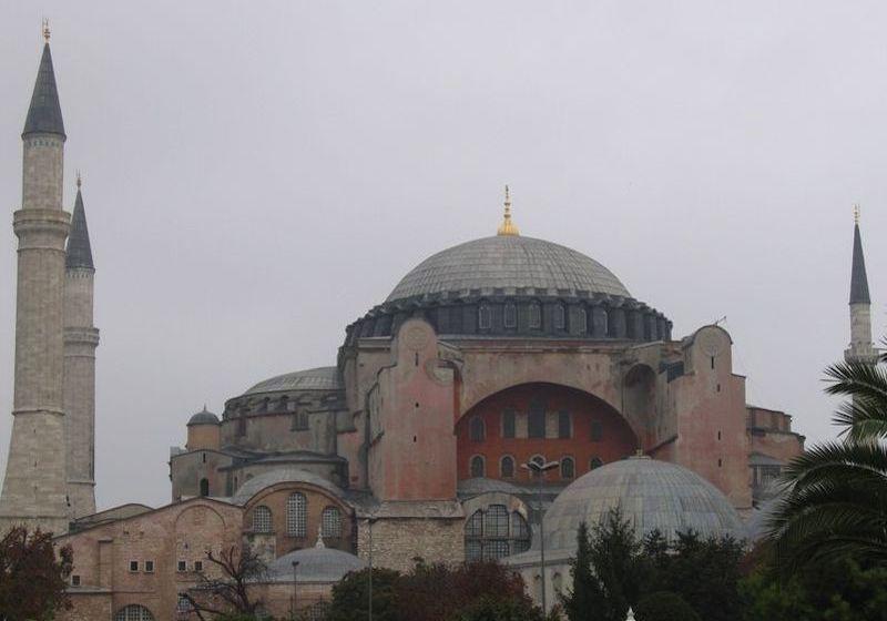 "Hagia Sophia Hagia Sophia or ""Santa Sophia was a Greek Orthodox Christian patriarchal basilica, later a mosque, and now a museum in Istanbul, Turkey"