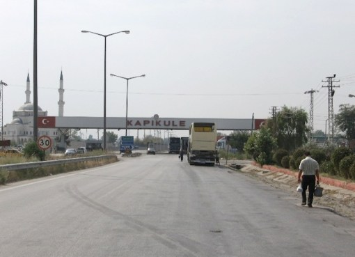 Turkish-Bulgarian border in Kapıkule, Edirne Province