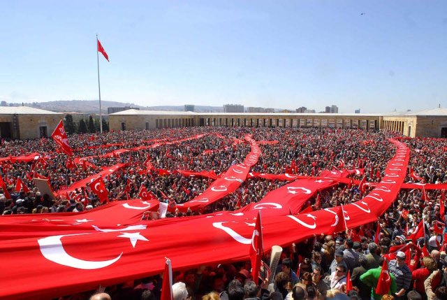 Thousands Participate in First Anniversary of Attempted Coup in Turkey