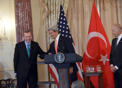 John Kerry and Turkish Prime Minister Erdogan