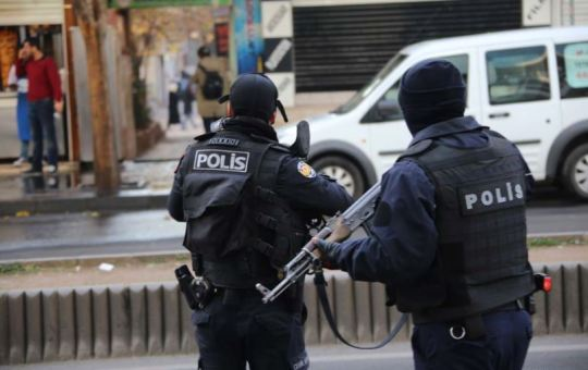 Turkish police forces