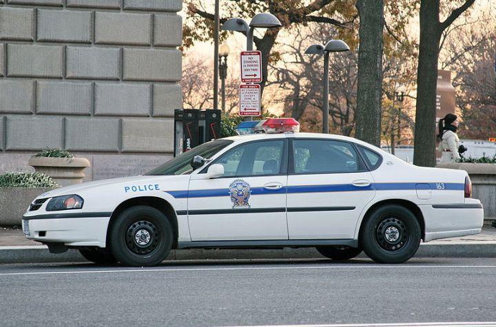 US police car. US Park Police.