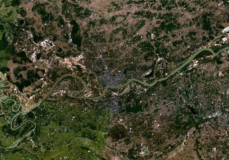 Satellite view of Ubon Ratchathani