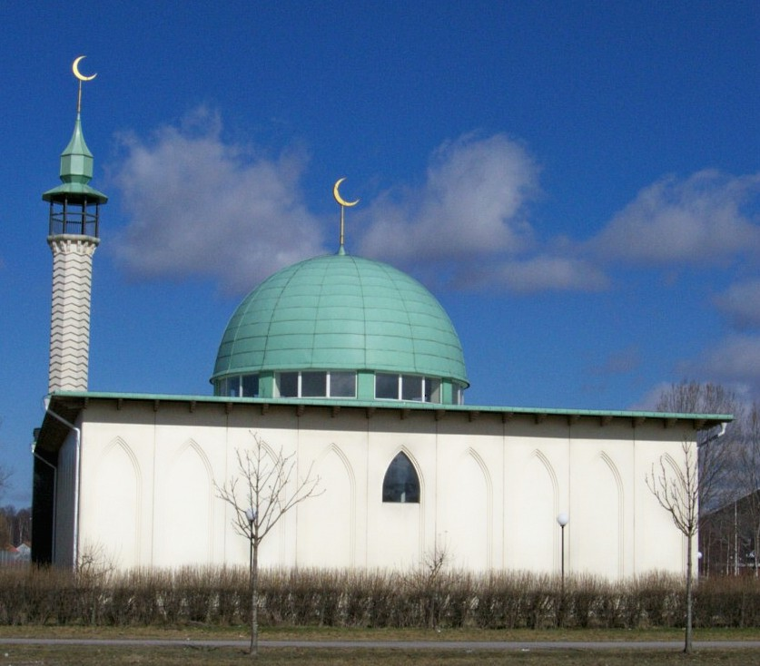 The Uppsala Mosque in the Kvarngärdet neighbourhood of Uppsala in Sweden