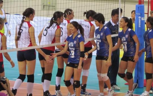 3rd AVC volleyball Cup for Women. Thailand - Kazakhstan