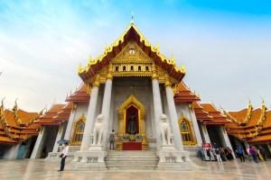 Wat Benchamabophit Buddhist Temple in Bangkok