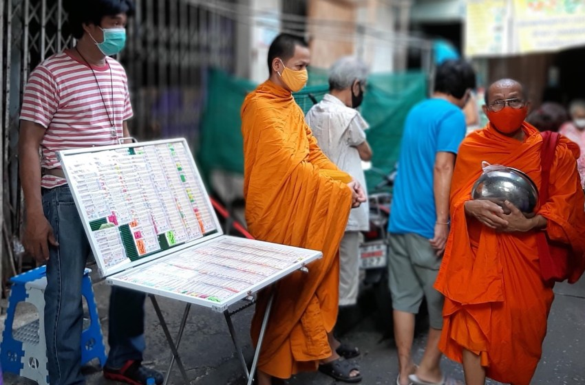 Thai people wearing a mask in the public during COVID-19 pandemic