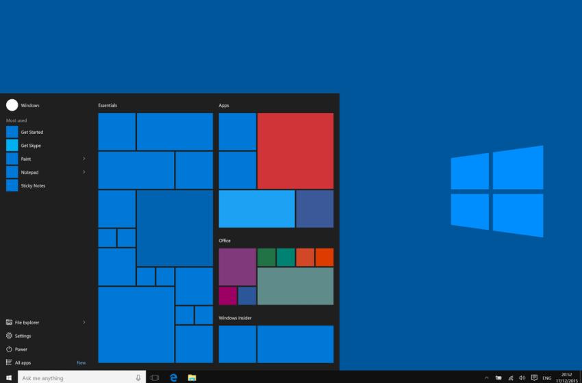 Microsoft Windows 10 build 10586