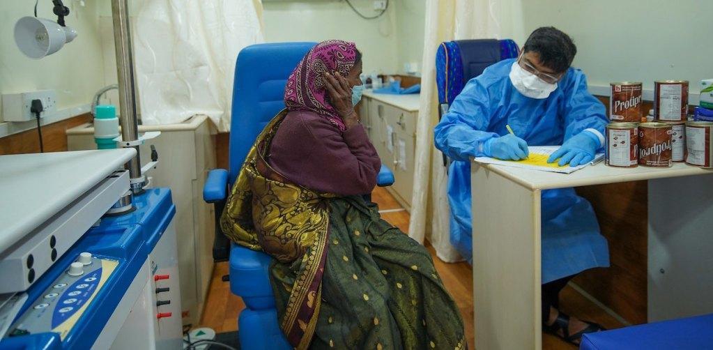 Hospital during COVID-19 pandemic in Jangamakote Village, India