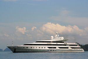 The Indian Empress yacht cruising in the Andaman Sea near Phuket (Thailand)