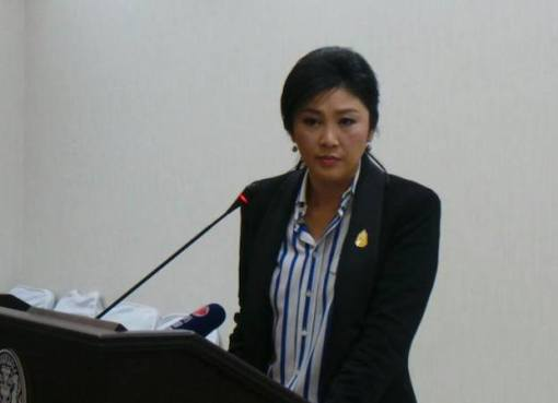 Thai PM Yingluck Shinawatra at the Government House