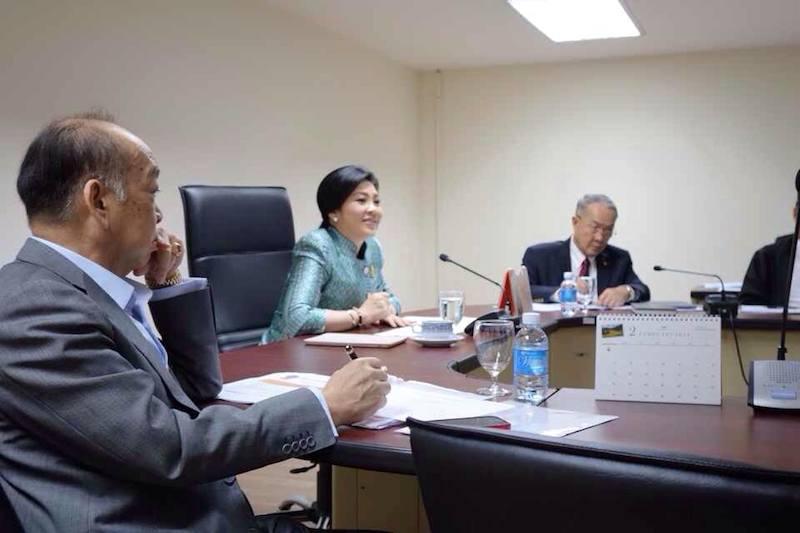 Yingluck Shinawatra and cabinet members