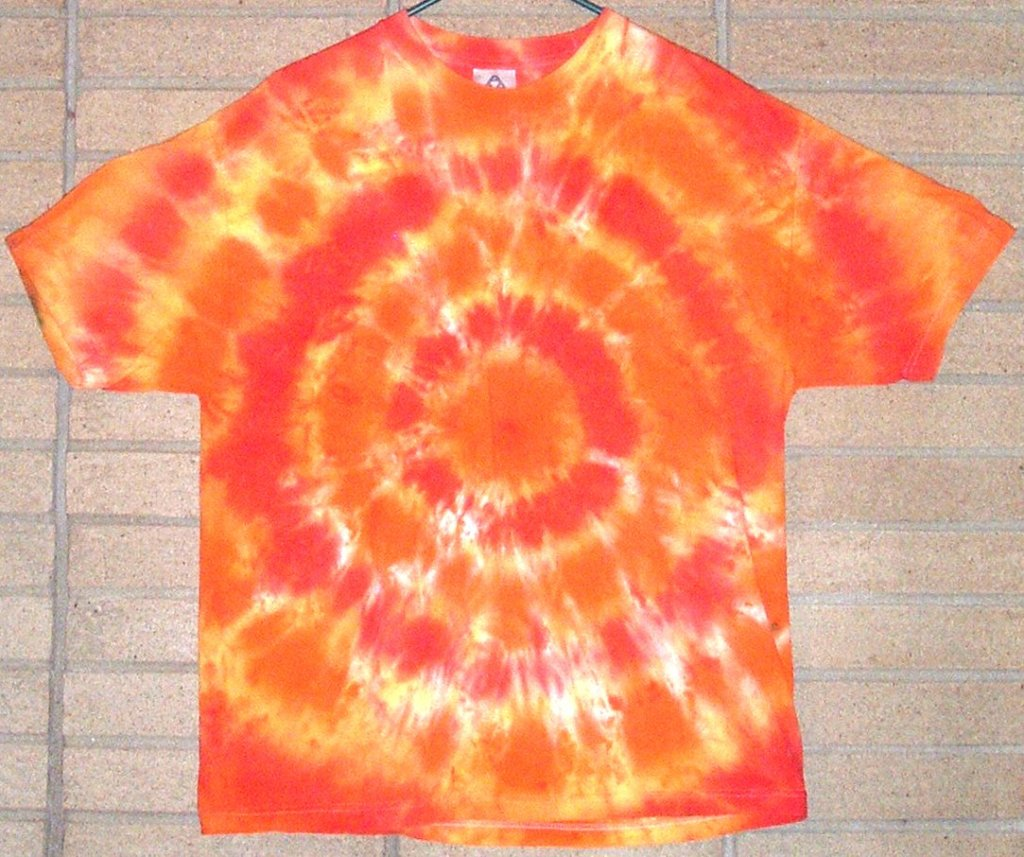 A tie dyed T-shirt