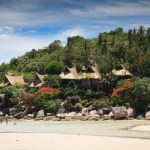 Beach houses in Koh Tao island