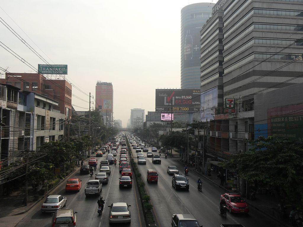 Street in Bang Kapi, Bangkok